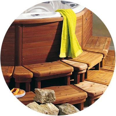dřevěné doplňky - schůdky