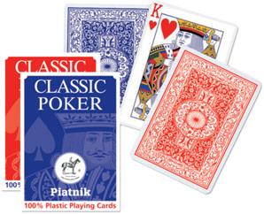plastové hrací karty