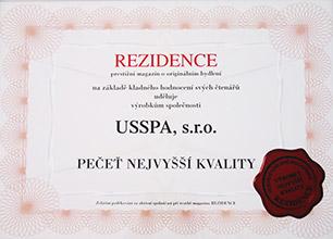 Ocenění - Čestné uznání - REZIDENCE, 2010